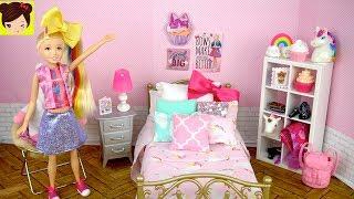 Barbie Jojo Siwa Muñeca Rutina de Mañana con DIY  Habitacion de Unicornios