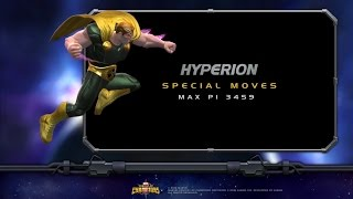 Hyperion Special Moves | Marvel Contest of Champions