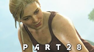 Uncharted 4 A Thief's End Walkthrough Gameplay Part 28 - Waterfall (PS4)
