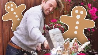 GINGERBREAD HOUSE SMASHING CHALLENGE! (Squad Vlogs)
