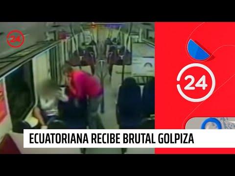 Ecuatoriana recibe brutal golpiza
