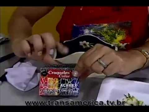 Tv Transamérica Decoupage Craquelê Vitrificação Parte1