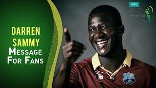Darren Sammy message for the HBL PSL Fans - PSL 2018