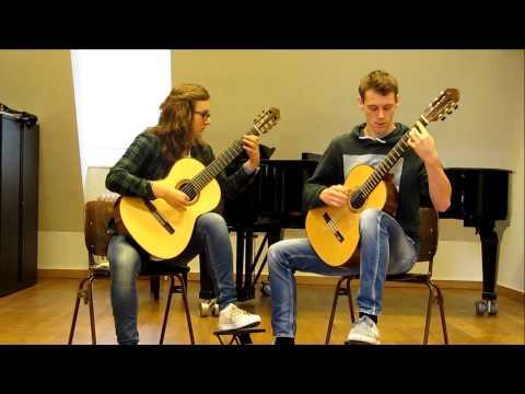 Muziekschool Pianoforte- gitaar docenten Koen Hutten en Marlot Hendriks