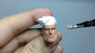 How to Paint Custom Action Figure Heads - Gambit - Painting Live
