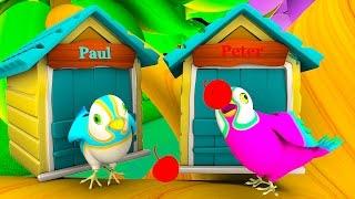 Two Little Dicky Birds | Nursery Rhymes Collection | Preschool Cartoon Kids Songs | Baby Bird Song