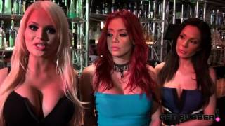 Get Rubber Behind the Scenes Interview with Alexis Ford, Kirsten Price and Mia Lelani