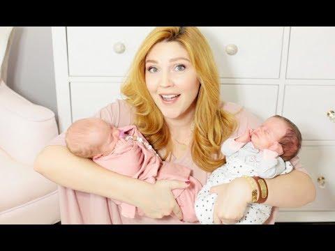 TWIN BABIES ONE MONTH UPDATE! | Breastfeeding, sleeping & growth!