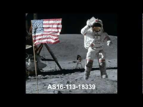 Fotos en la Luna ¿por qué las banderas parecen ondear