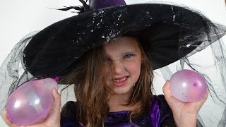 Water Balloon Fight In house Annabelle The Witch vs Victoria & Daddy Toy Freaks