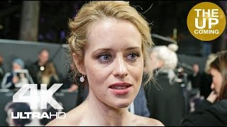 Claire Foy interview at The Crown premiere on Queen Elizabeth, the royals, Matt Smith