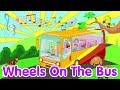 Download Video The Wheels On The Bus | Nursery Rhyme | Lagu Anak Channel 3GP MP4 FLV