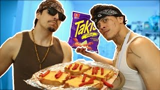Cooking TAKIS PIZZA with EGO THE CHOLO (Part 2)