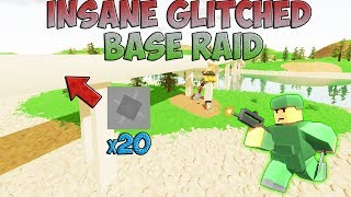 Unturned INSANE GLITCH BASE RAID!!!!!!!!