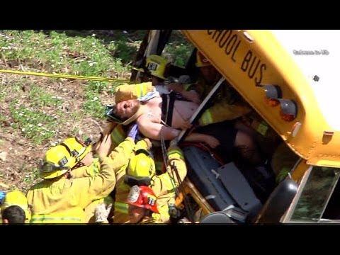 Xxx Mp4 Anaheim School Bus Crash 3 Critical Jaws Of Life Charter School Accident 3gp Sex