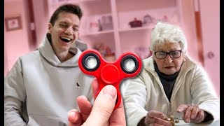 My Grandma Reacts To Fidget Spinners