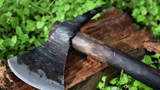 Forging a Spiked Tomahawk from a Ball Peen Hammer