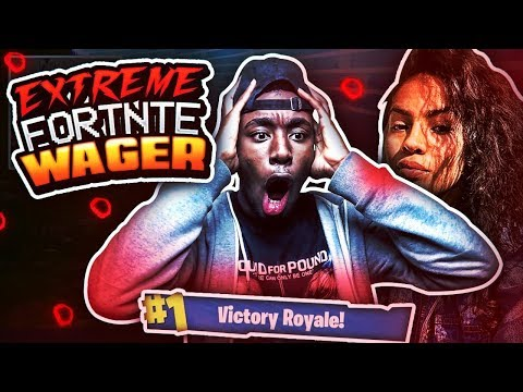 IF I WIN SHE LL LET ME SMASH 😱 MOST INTENSE FORTNITE WAGER OF ALL TIME