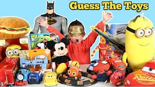 GUESS THE TOY Challenge!! Disney Cars Paw Patrol PJ Masks Spider-Man Ben 10  Ckn Toys