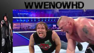 Brock Lesnar vs Dean Ambrose Wrestlemania 32 Street Fight Match