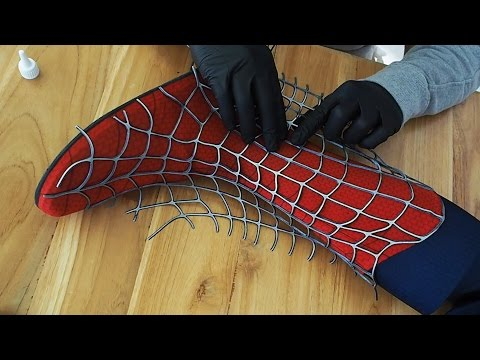 Making the Spider-Man Boot - Glueing of Webs