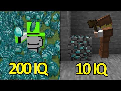 200IQ vs 10IQ Minecraft Plays