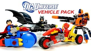 LEGO DC Super Heroes Batman Superman Deathstroke & The Flash KnockOff Vehicle Pack Speed Build