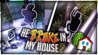 Homeless man Breaks into my House.. (Live footage)