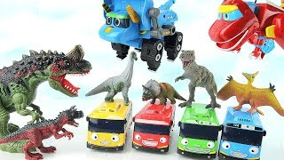 Dinosaurs And Tayo Fun Video. Giant Dinosaur is Alert! GoGo Dino, Super Wings, PJ Masks Move! Move!