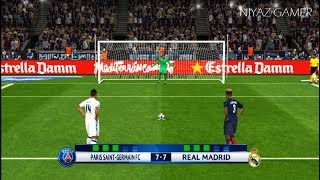 PSG vs REAL MADRID | Penalty Shootout | PES 2017 Gameplay | UEFA Champions League