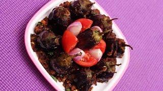 Stuffed Masala Brinjal Curry in Andhra Style || Myna Street Food