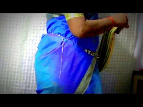 How to wear South Indian Saree - Perfect pleated South Indian Saree in very easy way