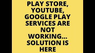 Google Play Service not working! Here is the Solution!