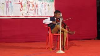 aye ajnabi tu bhi kabhi on violin by Karthik