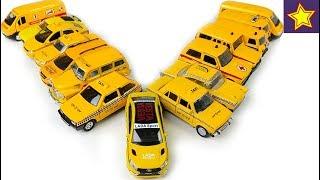 Машинки Желтая Лада Веста Спорт Достаем все желтые машинки Yellow cars toys