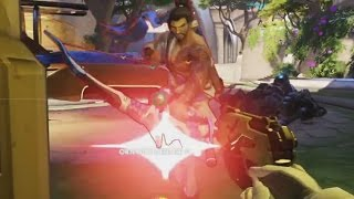 Overwatch Bronze Moments #24 - Hanzo Spots a D.Va