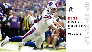 Best Dives & Hurdles from Sunday   NFL Week 3 Highlights