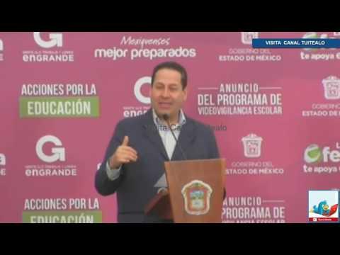 Instalan camaras de videovigilancia en escuelas del Estado de México Video Eruviel Avila