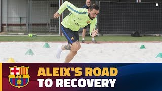[INSIDE VIEW] Aleix Vidal rehabs following ankle injury