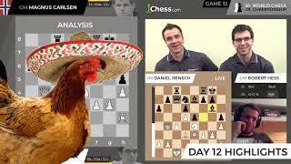Carlsen vs Caruana (Game 12 Live Highlights): World Chess Championship