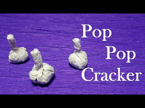 How to Make Pop It Bomb Cracker Using Matches