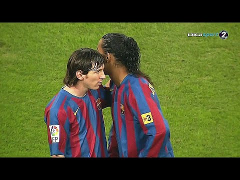 When 17 Year Old Lionel Messi TOYED with €1 Billion Real Madrid Team HD