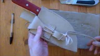 AlmazanKitchen Knife - Homemade Sheath made with nothing