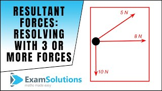 Resultant Forces - Resolving method for 3 or more forces : ExamSolutions