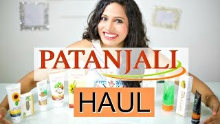 PATANJALI Review and Haul | Skincare and Haircare | ShrutiArjunAnand