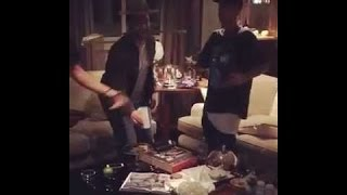 Justin Bieber, Ryan Good & Scooter Braun dance celebration that Sorry is out, London October 22 2015