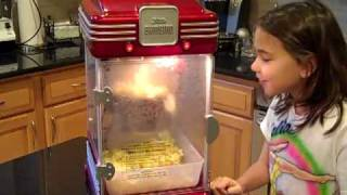 Little Bambino Popcorn Machine with Uncle David and Julia