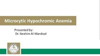 Microcytic Hypochromic Anemia