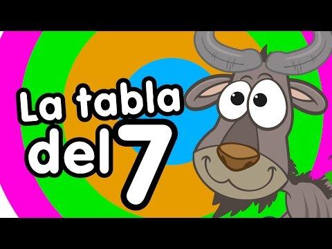 Tabla del 7 cantada Canciones Infantiles Canciones para niños Doremila