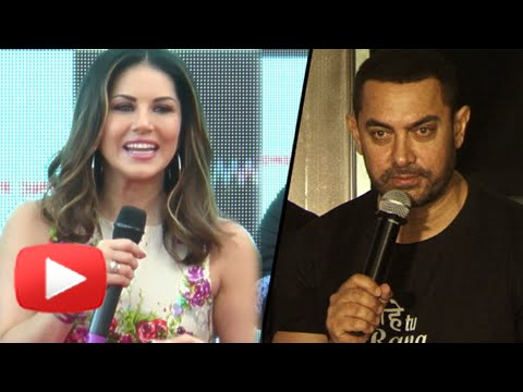 (VIDEO) Sunny Leone Excited To Work With Aamir Khan -WATCH